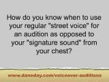 VOICE OVER AUDITION TIPS